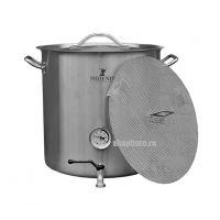 Сусловарочный котел 36,6 литров с термометром и краном